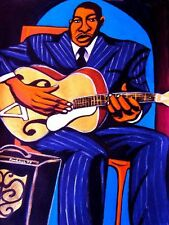 BIG BOY CRUDUP PRINT poster delta blues look on yonder's wall cd archtop guitar