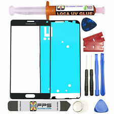 Black Front Outer Lens Screen Glass Replacement for Samsung Galaxy Note 4 N910