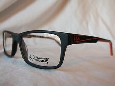 REAL TREE EYE GLASSES FRAME R497 ORA BLACK ORANGE CAMOUFLAGE 57MM NEW AUTHENTIC