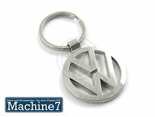 Key Ring VW Logo Chrome Bug Beetle Golf Passat Jetta VR6 Camper T4 T5 Lupo Polo