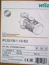 Wilo Pumpe 2150339 VeroLine Trockenläufer Standard Einzelpumpe IPL 32/135-1,1/2