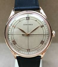 Vintage Longines  Oversized  Solid Rose Gold