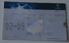 Ticket for collectors CL APOEL Nicosia - FC Porto 2009 Cyprus Portugal
