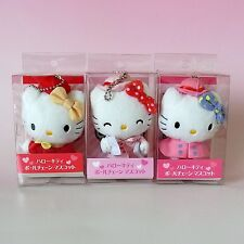 "LOTS OF 3 ! HELLO KITTY Department Store LIMITED* Mascots Charms * 3.9""(10cm)"