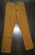 PULL&BEAR Pantalon TOILE COTON ocre slim chino HOMME taille 36 GARCON 14 15 ans