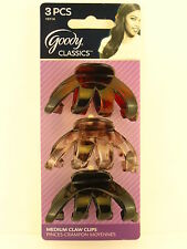 GOODY RAEGAN MEDIUM CLAW HAIR CLIPS - 3 PCS. (10114)