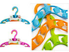30 x Kids Baby Plastic Coat Clothes Garment Trousers Hangers New
