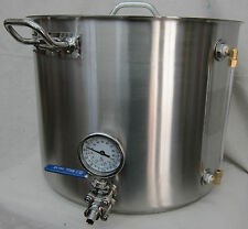 25 Gallon Pro Quality All Stainless Steel Hot Liquor Tank / Brew Kettle
