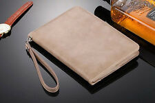 Genuine Leather Handheld Case Card Stand Strap Cover For iPad Mini/ iPad Air/Pro