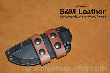 Handcrafted Brown Leather Esee 4 Scout Carry Sheath Straps
