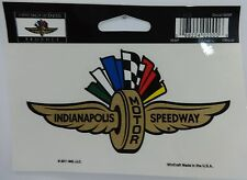 Indianapolis Motor Speedway Gold Wings Wheel Flag Decal