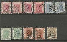 HONG KONG 1882-5 MAINLY FINE USED SELECTION OF 11 CAT £105