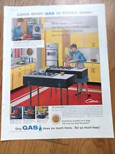 1960 Gas Ad Kitchen Appliance Theme Oven Control on this Caloric