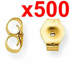 500 earrings gold metal friction butterfly stud stoppers findings post push back