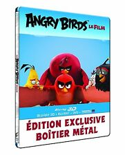 Angry Birds - [Blu-ray 3D + Blu-ray + DVD + Digital Copy] Steelbook Region-Free
