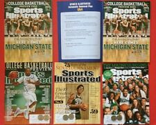 5 MICHIGAN STATE SPARTANS Sports Illustrated Magazine Lot Vtg College Basketball