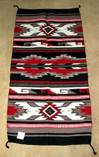 "Large Throw Rug Southwestern Western 32""x 64""  Woven Wool Tapestry #331"