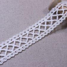 Antique Cotton Crochet Edge Lace Trim Ribbon Applique Ivory 3cm Wide 3yards