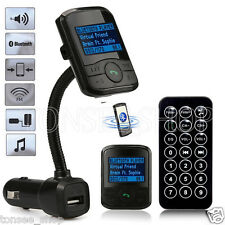 LCD Bluetooth Auto FM Transmitter Modulator Handsfree Car MP3 Player USB SD MMC