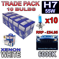 10 x H7 55w Xenon White Halogen Bulbs 6000k - Trade Bulk Wholesale Headlight