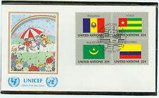 Vereine Nationen FDC Ersttagsbrief 1986 Flaggen Mi.-Nr.511-14