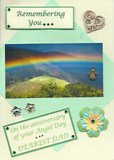 Angel Day Dad : Graveside Family Memorial Cards