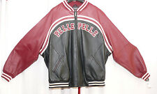 Pelle Pelle Black & Merlot Plush Soda Club Leather Jacket Size 54