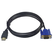 1.8M HDTV HDMI To VGA Male HD15 Adapter Cable For PC TV (Read Description)