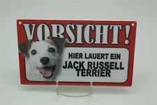 JACK RUSSELL TERRIER - Tierwarnschild - VORSICHT Warnschild 20x12 cm 27