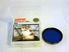 Sunpak 52mm 80A Pictures Plus Lens Filter in original box Blue  6108010
