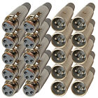 10 Male & Female 3Pin XLR Connectors for Microphone Mic Cable cord plug 20 jacks
