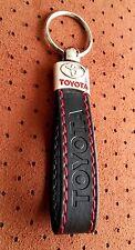 TOYOTA TRD Keyring RAV4 AVENSIS AURIS Yaris AYGO BLACK RED ECO Leather Key ring