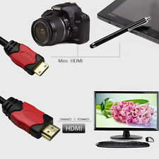 High-speed 6FT HDMI to Mini HDMI Cable Cord Adapter HD for Camera HDTV Camcorder