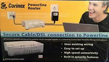 New Sealed CORINEX POWERLINE ROUTER Secure Cable/DSL Connection To Powerline