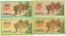 RUSSIA/BLAGOVEWENSK 4 NOTES1992 R-24343,44,45,46 UNC VERY RARE!!!