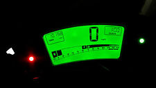 Reloj de LED Verde Kawasaki ER6F Kit lightenupgrade