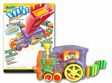 BLASTS DOMINO RALLY TRAIN - LIGHTS & SOUNDS - 100 PIECE SET NEW GREAT GIFT