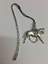 Showpony PP-E02 Horse Pattern bookmark with cord 3D English pewter charm