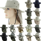 Boonie Fishing Hiking Army Military Snap Brim Neck Cover Bucket Sun Flap Hat Cap
