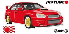 Subaru WRX Impreza   - Red with Gold Rims - JDM - JapTune Brand