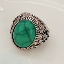 Hot Vintage woman 316L Stainless Steel Vogue Design Mini Stone Ring Size 10 # !