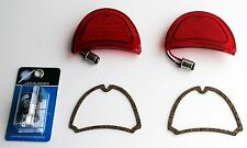 1957 Chevy 57 LED red tail lights NEW pair wG & Flasher