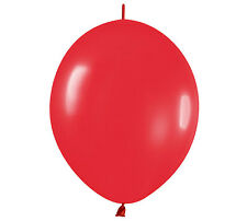 "10ct. FASHION RED  Link-o-Loon 12"" Latex Helium Linking Balloons ARCHES ARBORS"