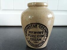 Early 20th Century Hailwood's Cream Pot Manchester England Vintage Advertising