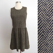 NWT J. Crew size SMALL taupe beige stripe print sleeveless dress career cocktail