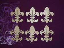 Fleur De Lis Shape Unfinished Wood Mini Wooden Craft Cut Outs 6PCS FLE025