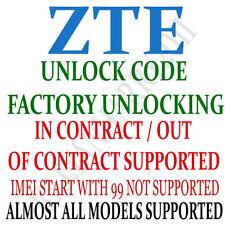 ZTE Unlock Code for ZTE V970 Via IMEI Fast Service