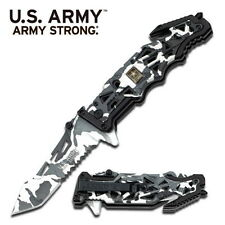 US Army Knives Rescue Digital Camo  Assisted Knife A-A1005DW