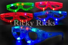 12 Light-Up Glasses Kids Sunglasses LED Shades Flashing Blinking Rave Glow Party