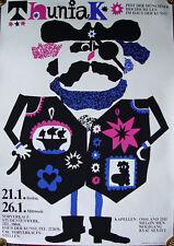München Haus der Kunst Thuniak Pirat Augenklappe Hochschule Fasching Plakat Mode